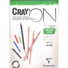 BLOK CLAIREFONTAINE CRAY'ON A3 30 ARK. 160G