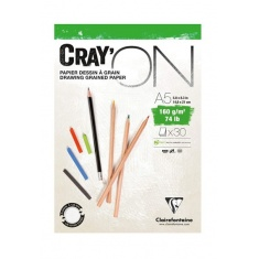 BLOK CLAIREFONTAINE CRAY'ON A5 30 ARK. 160G