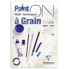 BLOK KLEJONY CLAIREFONTAINE PAINT'ON A GRAIN A3 20 ARK. 250G