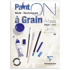 BLOK KLEJONY CLAIREFONTAINE PAINT'ON A GRAIN A4 20 ARK. 250G