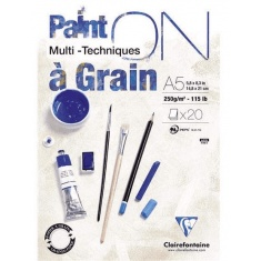 BLOK KLEJONY CLAIREFONTAINE PAINT'ON A GRAIN A5 20 ARK. 250G