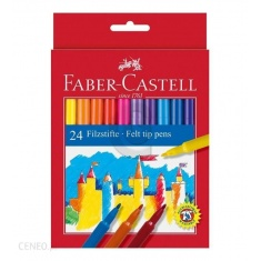 FABER CASTELL FLAMASTRY 24 KOL.