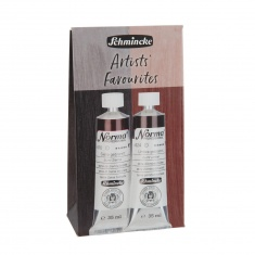 NORMA PROFESSIONAL ARTISTS FAVOURITES 2X35 ML BURNT SIENNA/BURNT UMBER- ZESTAW FARB OLEJNYCH