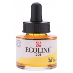 TALENS ECOLINE 30 ml 201 - LIGHT YELLOW - koncentrat farby wodnej w pojemniku z pipetą