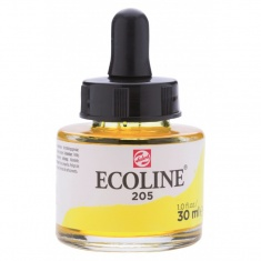 TALENS ECOLINE 30 ml 205 - LEMON YELLOW PRIMARY - koncentrat farby wodnej w pojemniku z pipetą